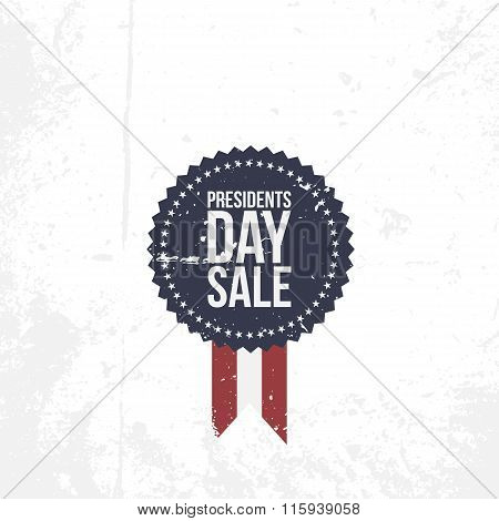 Presidents Day Sale vector circle Emblem