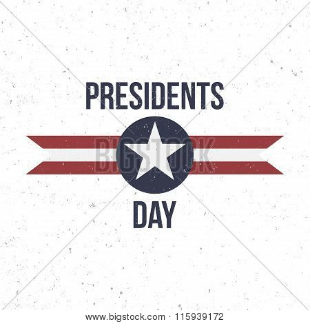 Presidents Day vector Label with Text