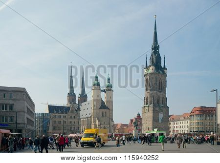 Market Square, Halle, Germany