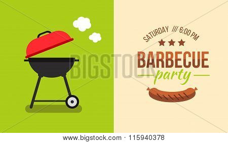 Barbecue Illustration Concept