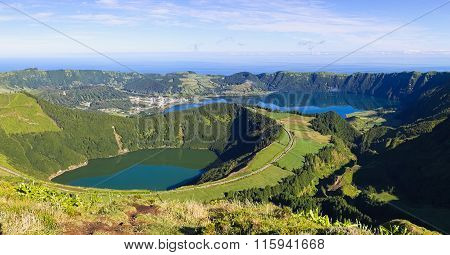 View To Lagoons Of Sete Cidades On Azores