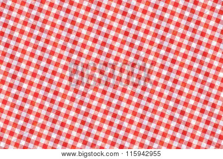 Red And White Computer Generated Abstract Geometric Pattern