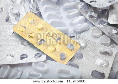 Empty Blister Packs Background