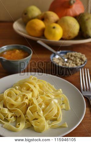 Walnut Noodles With Jam