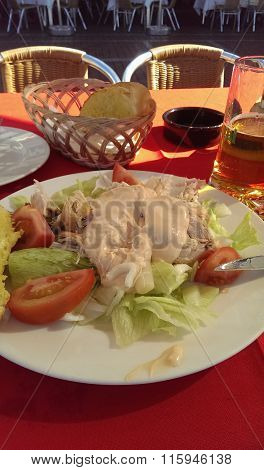 Chicken Salad On A Table
