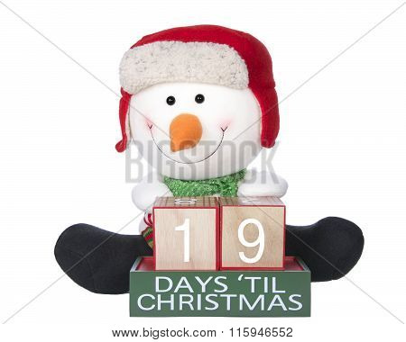 Festive Snowman Count Down To Christmas