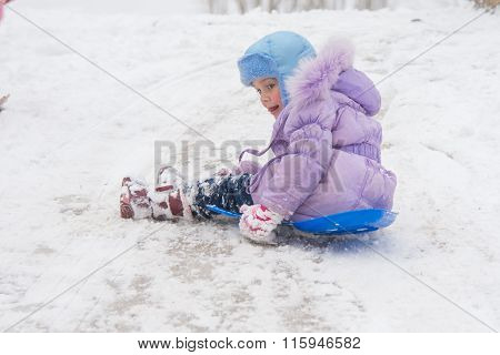 Girl Closing Her Eyes And Opening The Ice Kind Of Rolling Hills