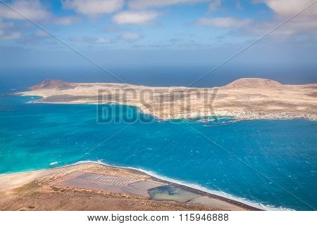 View Of The Part Of Graciosa Island From Mirador Del Rio, Lanzarote Island, Canary Islands, Spain