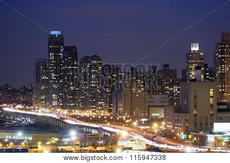 Midtown Manhattan Highway Illuminated