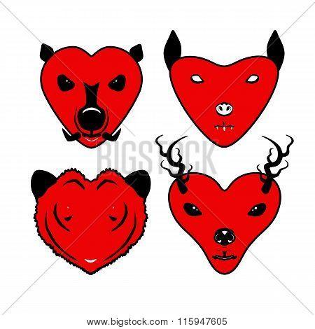 animalheartvector