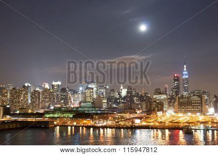 Midtown Coast Illuminated At Night