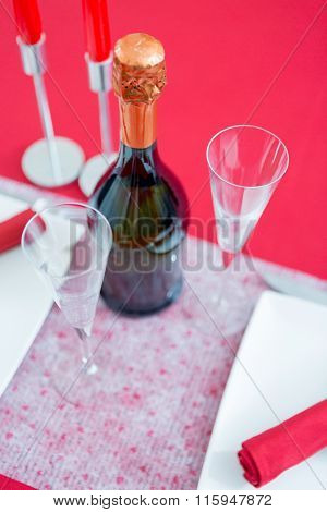 Valentines Day Composition With Fizz