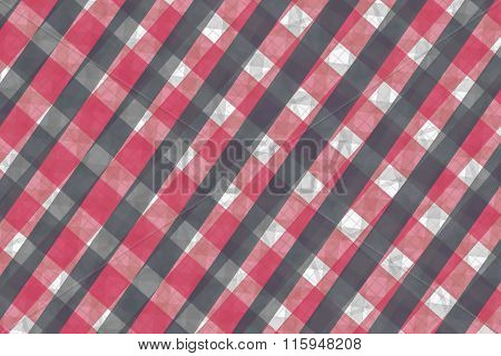 Gray And Pink Computer Generated Abstract Plaid Pattern