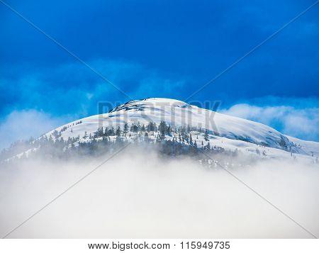 Cloudy Mountain In Sun