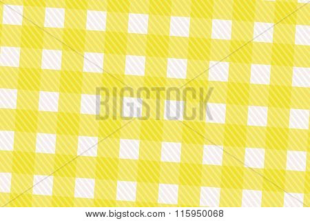 Yellow And White Computer Generated Abstract Plaid Pattern