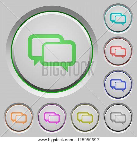 Chat Bubbles Push Buttons