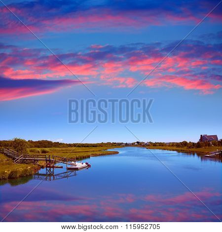 Cape Cod Bumps river near Craigville Beach Massachusetts USA