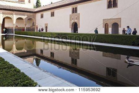 Alhambra Court Of The Myrtles Longer Side