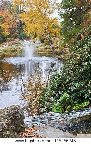Fountain at Botanical Garden in Wroclaw