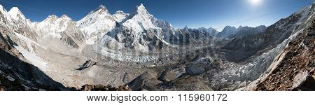 Mount Everest, Lhotse And Nuptse