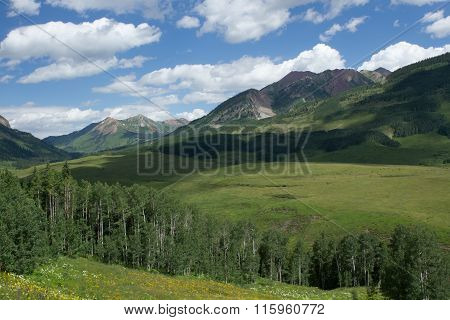 Crested Butte Colorado In The Summertime