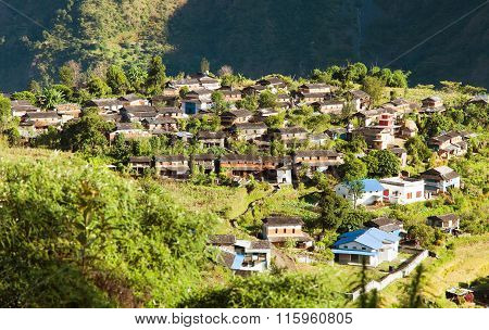 Beautiful Village In Western Nepal, Dhaulagiri Area