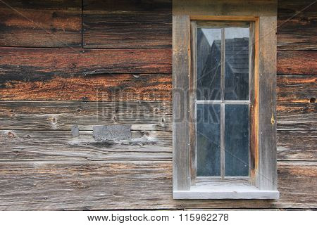 Weathered wood side of a barn