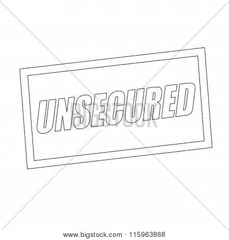 Unsecured Monochrome Stamp Text On White
