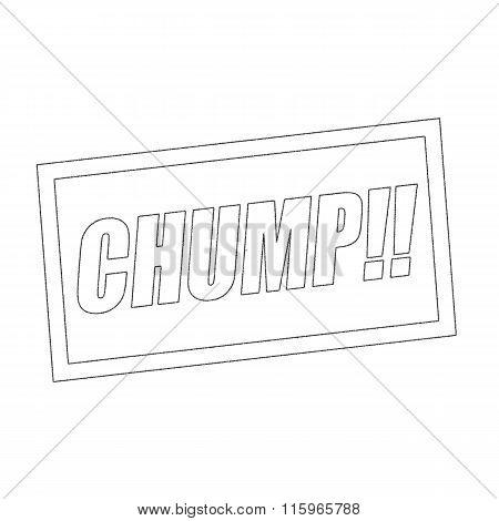 Chump Monochrome Stamp Text On White
