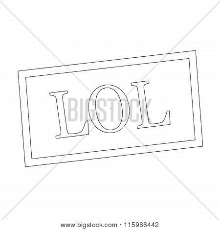 Lol Monochrome Stamp Text On White