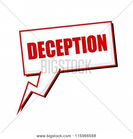 Deception Red Stamp Text On White Speech Bubbles