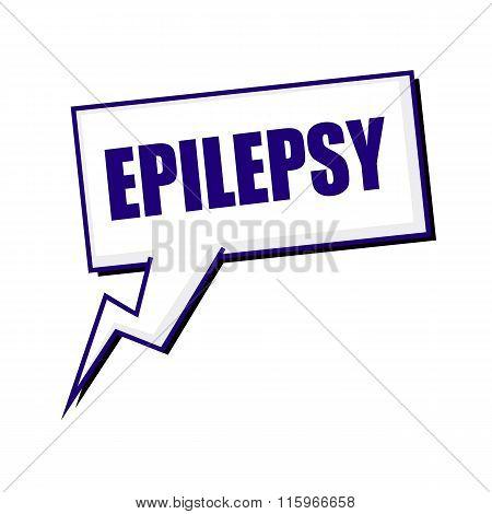 Epilepsy Blueblack Stamp Text On White Speech Bubbles