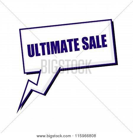 Ultimate Sale Blueblack Stamp Text On White Speech Bubbles