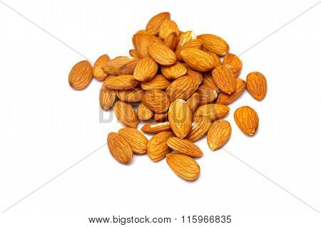 Almonds Close Up. Raw Food Diet.