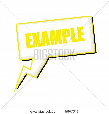 Example Yellow Stamp Text On White Speech Bubbles