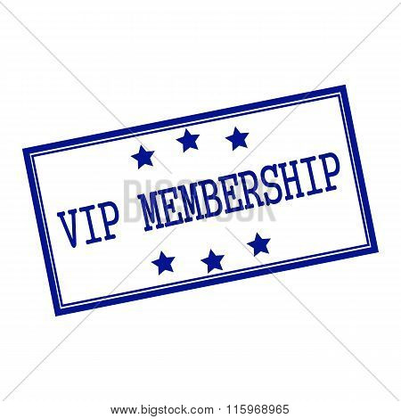 Vip Membership Blue-black  Stamp Text On Background White And Star