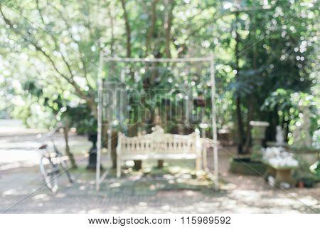 Blurred background : Green garden blur background with bokeh.