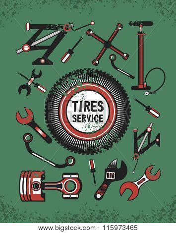 Set Of Tools For Car Repair