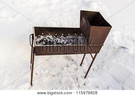 Brazier In Snow