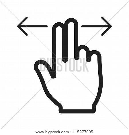 Two Fingers Horizontal Scroll
