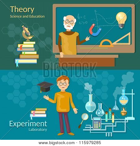 Science And Education Teachers School Board Schoolboy Professor Chemistry Physics