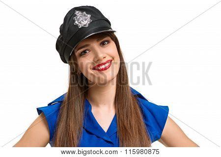 smiling Police girl
