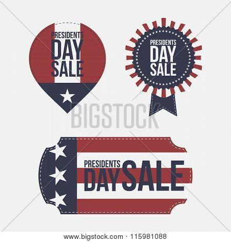 Presidents Day Sale vector design Elements Set