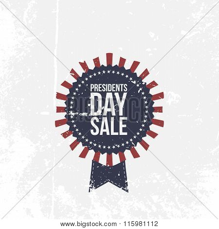 Presidents Day Sale national Label with Text