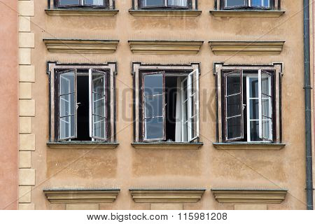 Three Open Windows