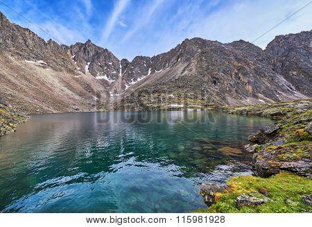 Beautiful Water Of A Mountain Lake At Range