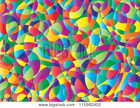 Colorful Abstract Poster Painting Vector Illustration