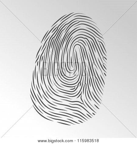 Fingerprint Vector Icon. Vector Symbols. Vector Illustration