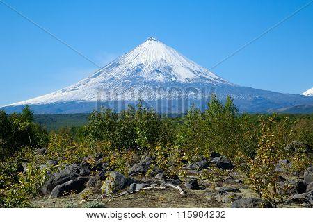 Volcano  Klyuchevskaya.(4800m)