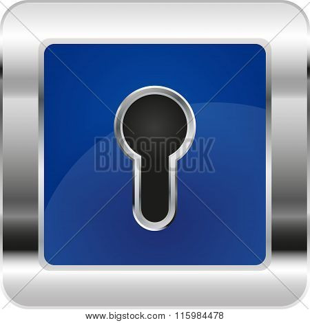icon keyhole on an isolated background